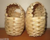 2 X LARGE WICKER FINCH NEST BASKETS